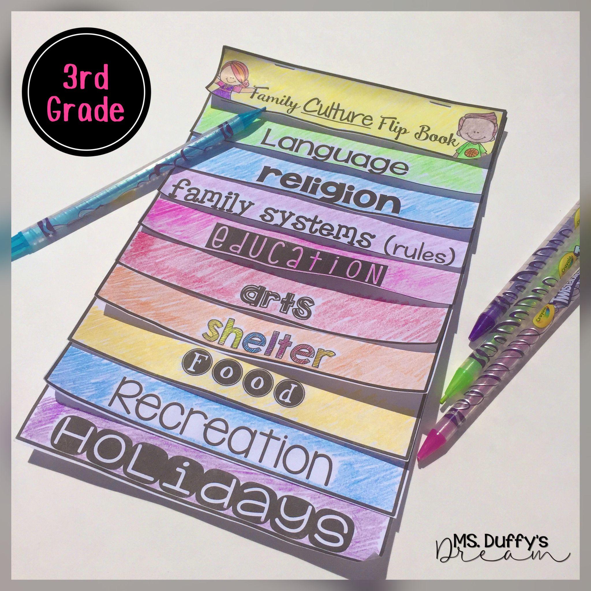 3rd Grade Social Stu S Family Culture Flip Book