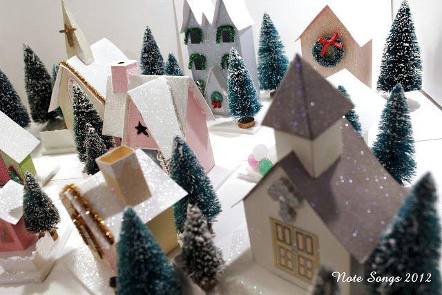 Glitter house DIY instructions... http://notesongs.blogspot.ca/2012/07/how-i-make-glitter-houses.html