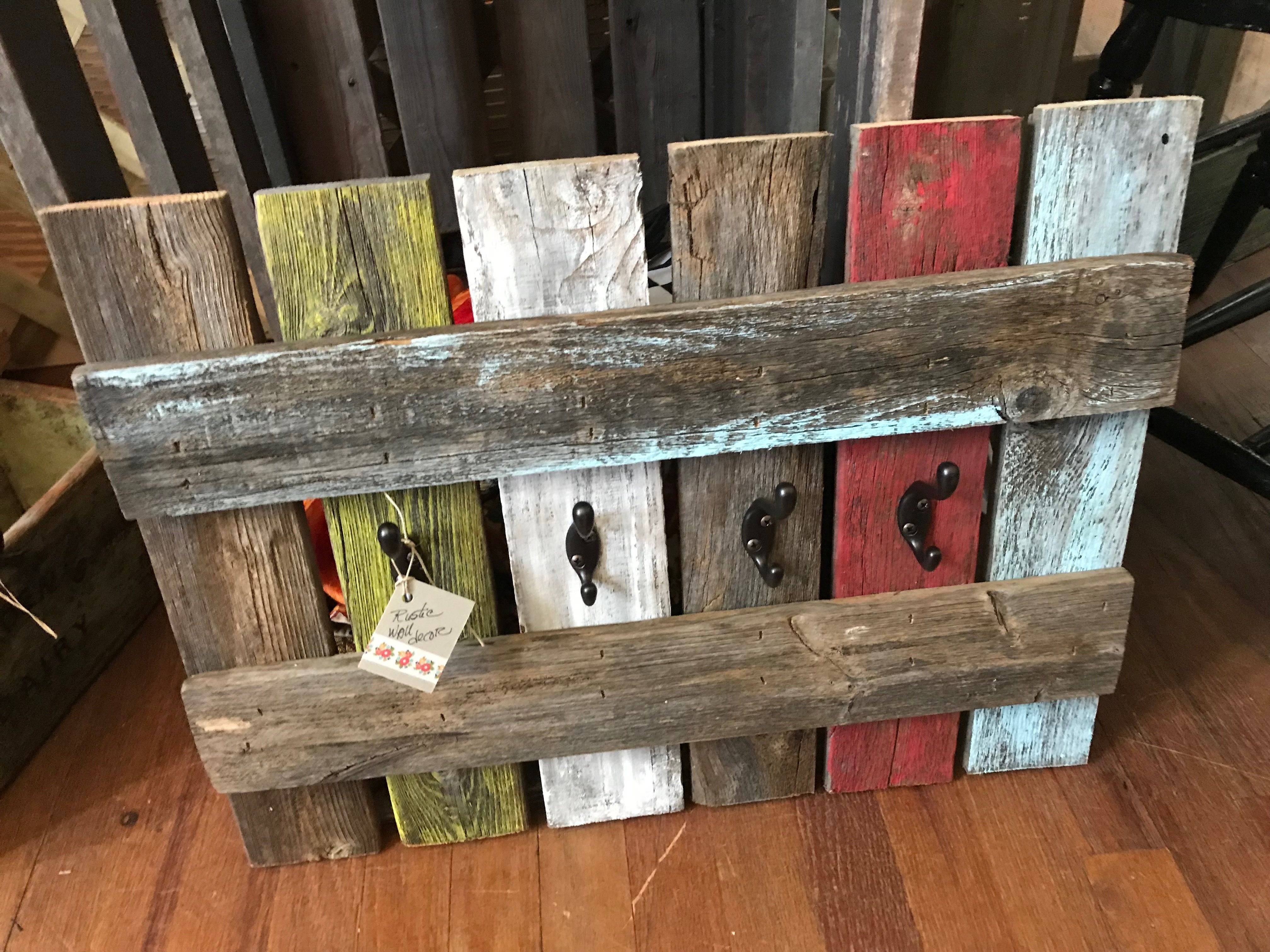 Pallet Wood Wall Decor With Hooks Wood Pallet Wall Wood