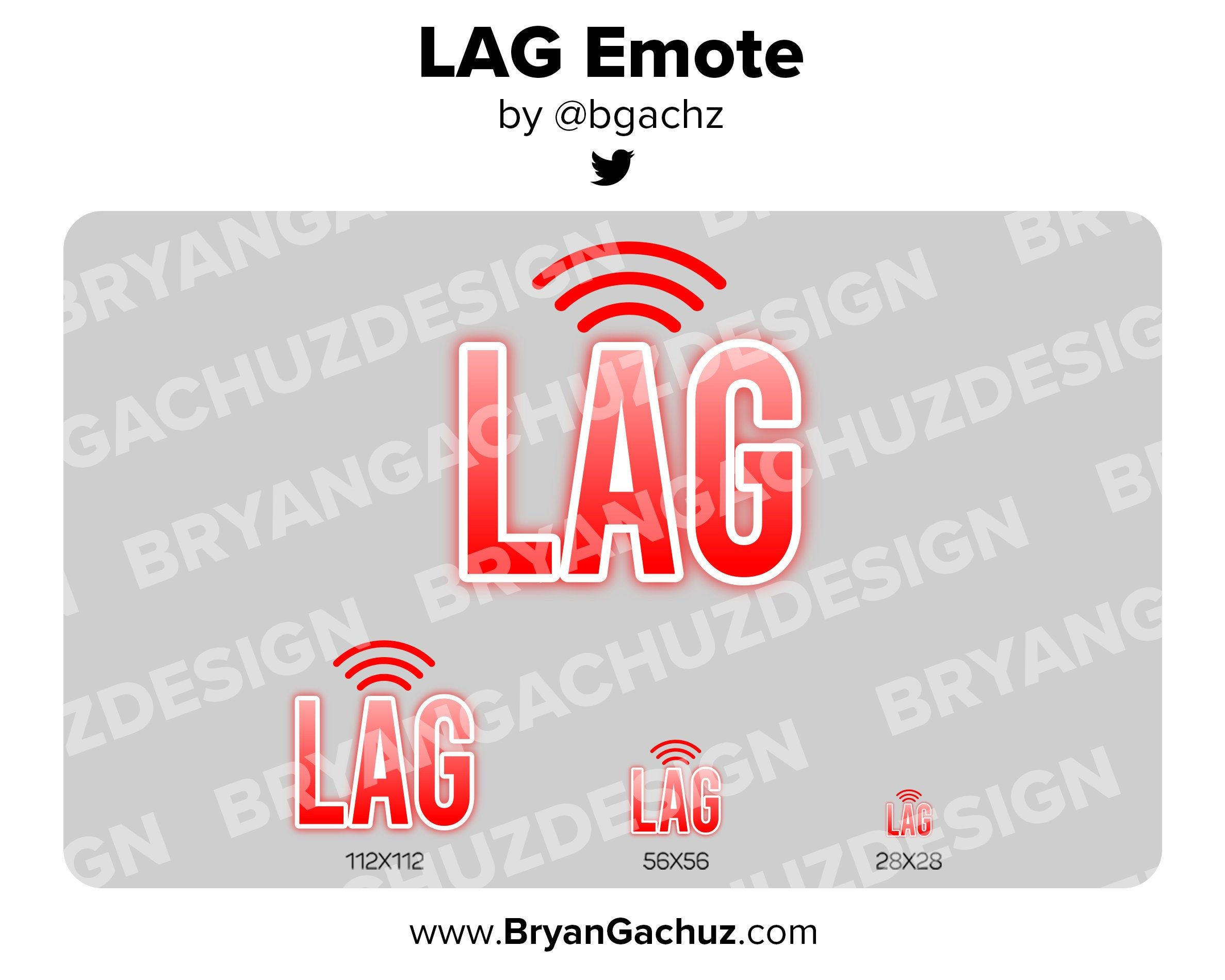 Lag emote for twitch discord or youtube etsy discord