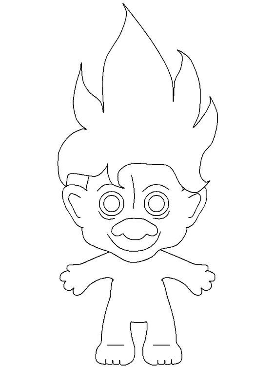 Print coloring page and book, Trolls 4 Fantasy Coloring