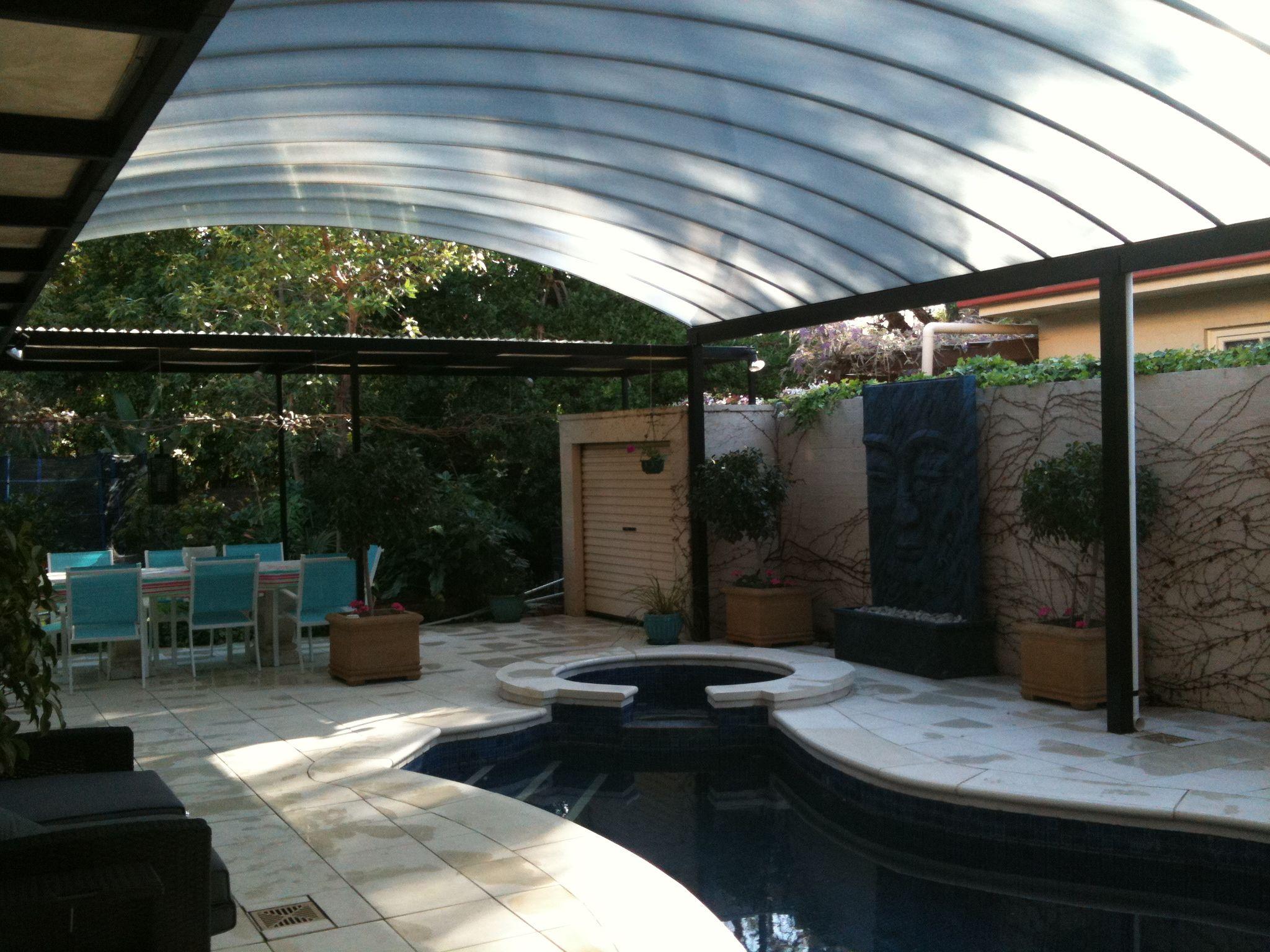 פרגולת אלומיניום ביתית Patio Outdoor Decor Outdoor