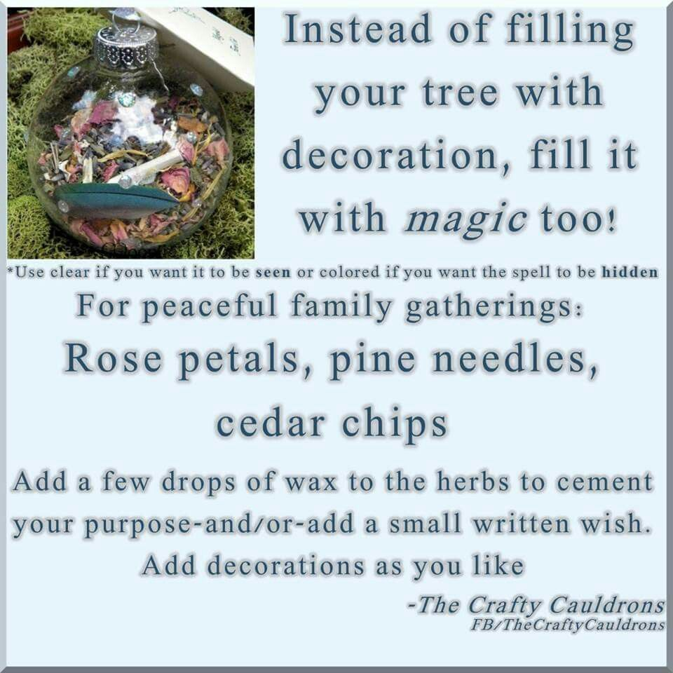 Fill your Tree with magic. Pagan wiccan yule