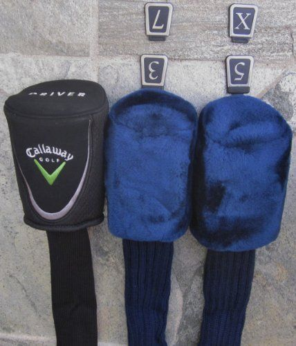 Callaway Golf Club Headcover Set For Driver Woods Black Blue Colors Covers Head Cover Golf Equipment Accessories By Callaway 11 99 Brand New Callaway Woo