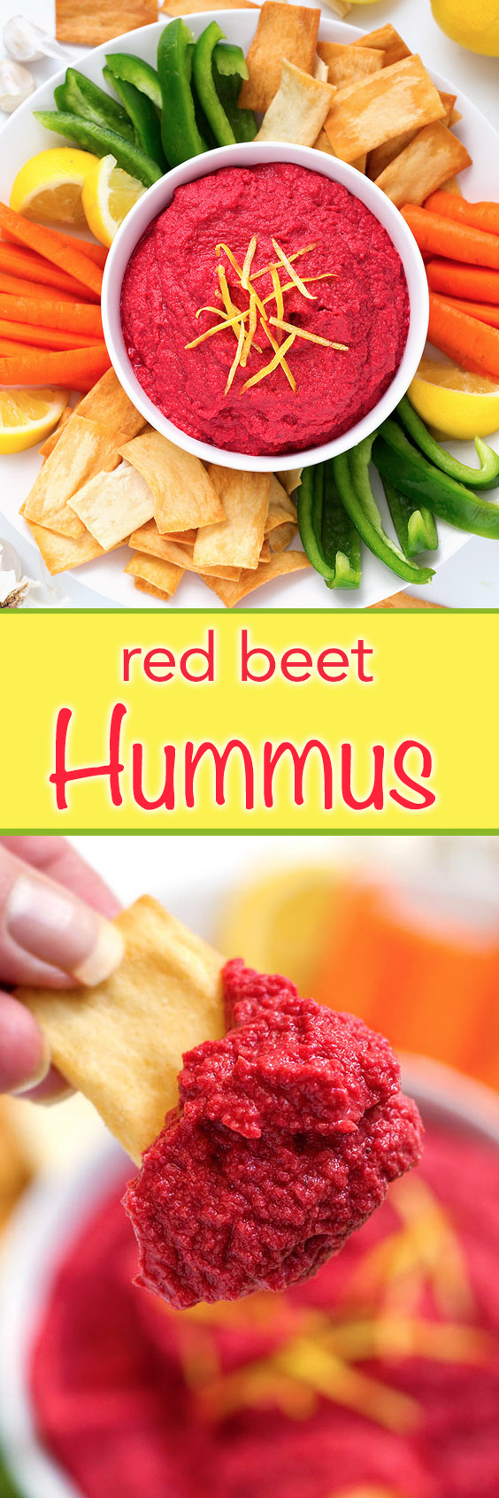 Blood Red Beet Hummus with Carrot Fingers Blood Red Beet Hummus with Carrot Fingers new foto