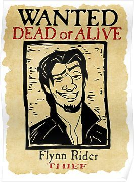Wanted Flynn Rider Broken Nose Poster By Grumpyboobsart Flynn
