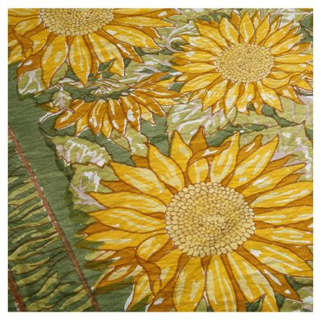 Sunflower Tablecloth In Green Table Cloth Joss And Main Sunflower