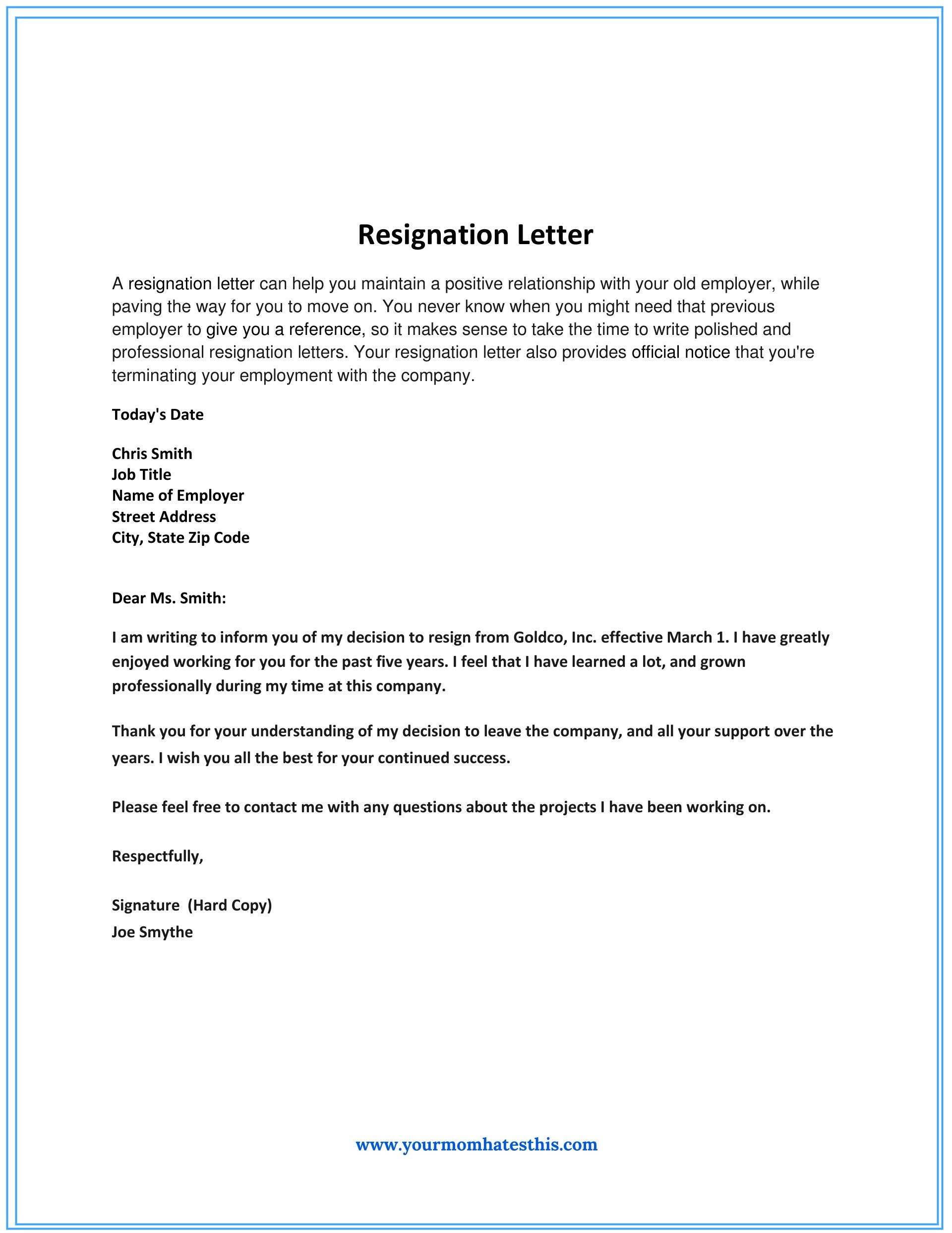 Resignation Letter Sample Not Good Fit Letters Livecareer  Home