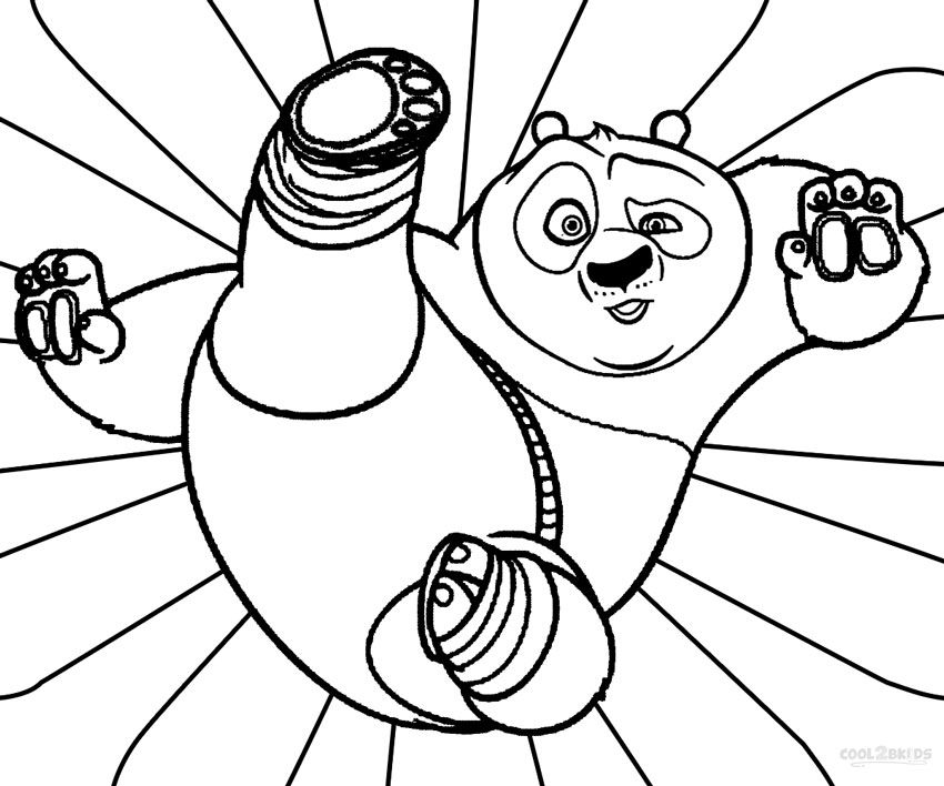 coloring pages draw a cartoon panda. Printable Kung Fu Panda Coloring Pages For Kids  Cool2bKids Film