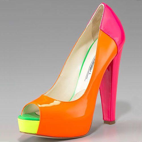 E o Neon Vem com Tudo!  Spring-2012 ShoeTrendneon