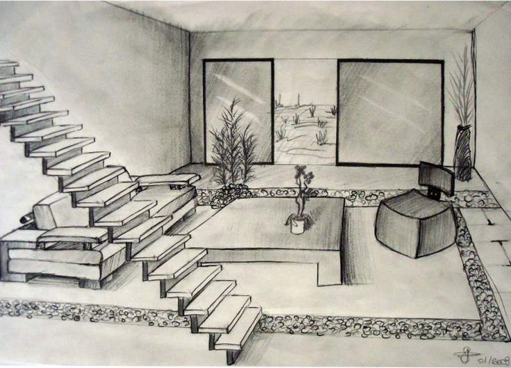 dessins d 39 interieur de maisons en perspective int rieur avignon a france de la part de. Black Bedroom Furniture Sets. Home Design Ideas