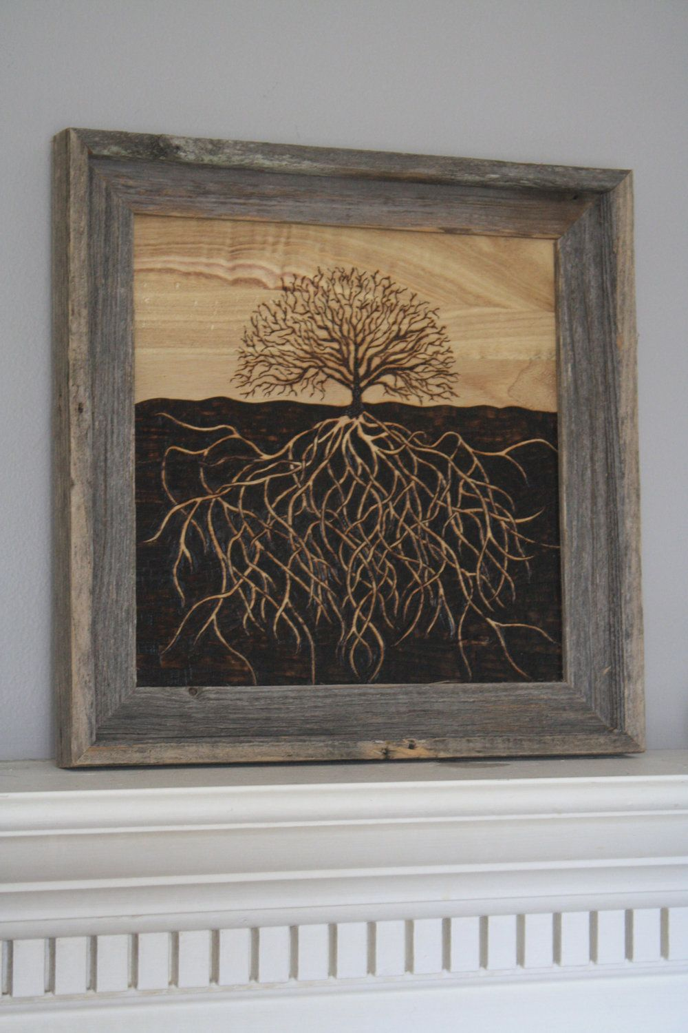 Tree Art with Exposed Roots.