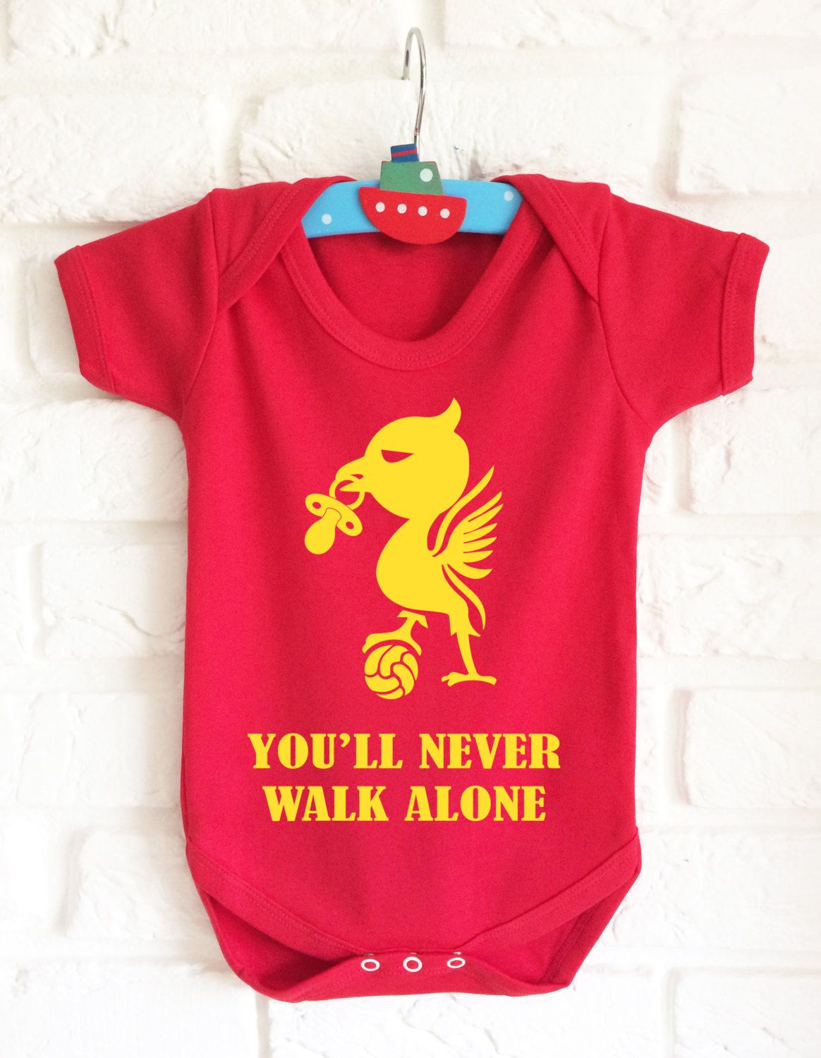 d789d4f99 Baby s Liverpool bodysuit baby grow vest. You ll never walk alone ...