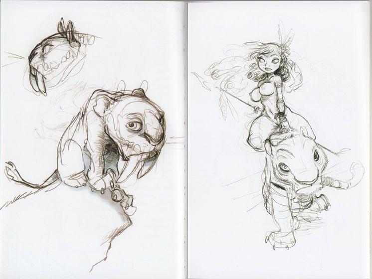 Older chris sanders pencil sketches 2