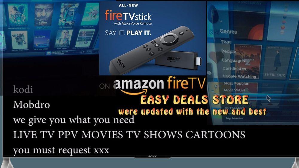 Fire Stick TV w/ Alexa Voice JAILBROKEN All Movies TV PPV