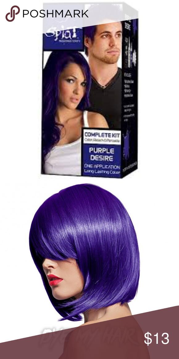 Splat Purple Desire Semi Permanent Hair Dye New Semi Permanent Hair Dye Diy Hair Color Permanent Hair Color