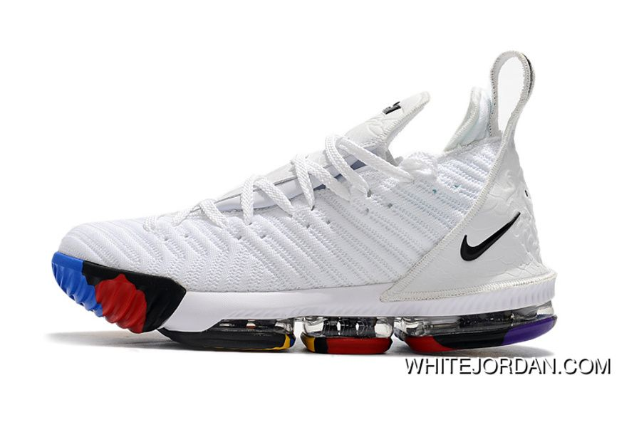 2018 Nike Lebron 16 White Multi-Color Shoes For Sale Mens Basketball Shoes  Free Shipping fef9b32a5