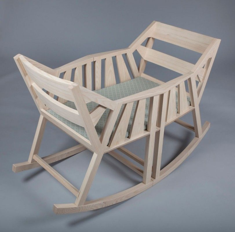 Baby cradle convertible into two rocking chairs... Swedish design is ...