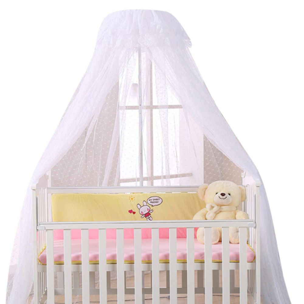 Baby Bed Mosquito Net Playpens Bassinets Crib Netting Round Dome Infant Cribs Bed Canopy Durable Mosquito Net Hol Baby Crib Canopy Baby Bed Canopy Crib Netting