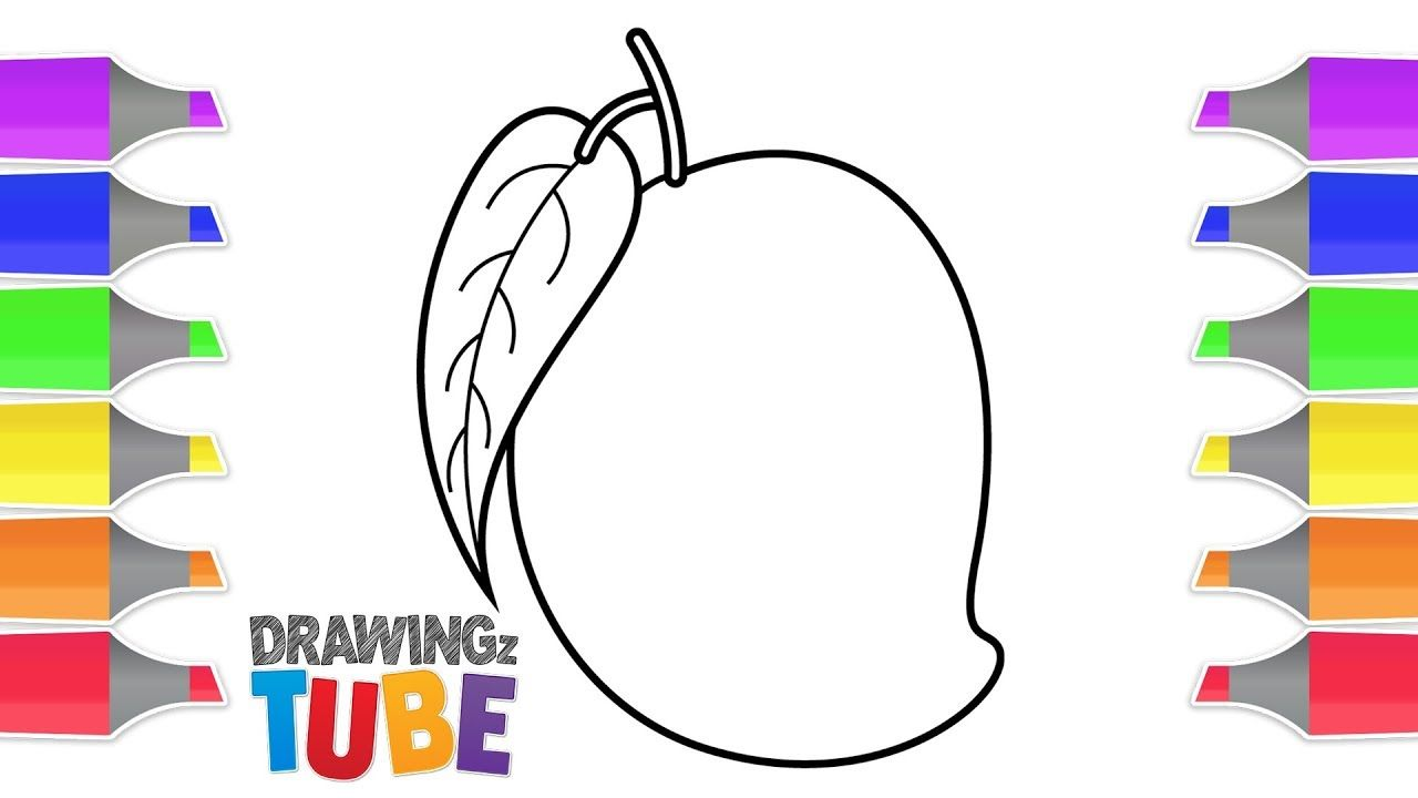 How To Draw A Mango For Kids Drawing For Kids Educational