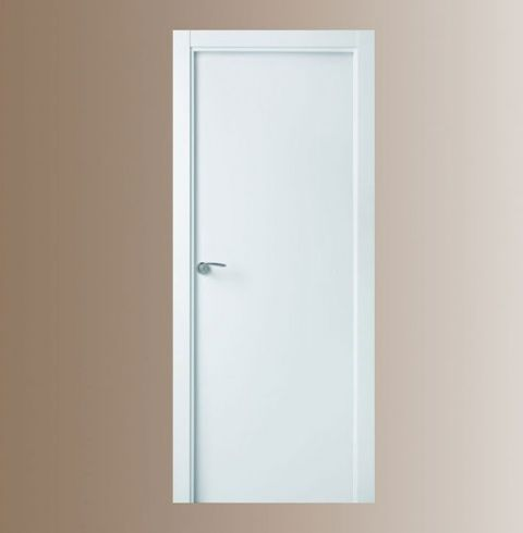 Puerta de interior semi maciza vinilo blanca puertas for Puertas semi macizas blancas