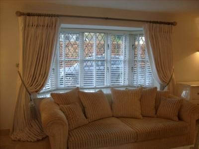 Bow Window Curtains Bay Blinds Cute Room