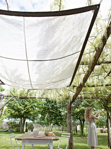 Un Ciel De Terrasse En Sacs A Gravats Idees Jardin Terrasse Jardin Et Terrasse