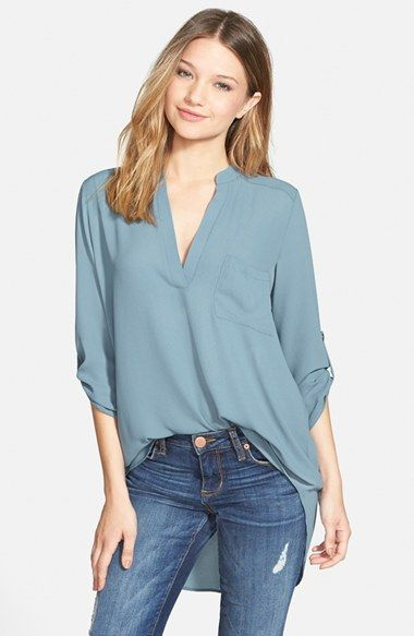 f07689ee202 Lush 'Perfect' Roll Tab Sleeve Tunic (Juniors) available at #Nordstrom