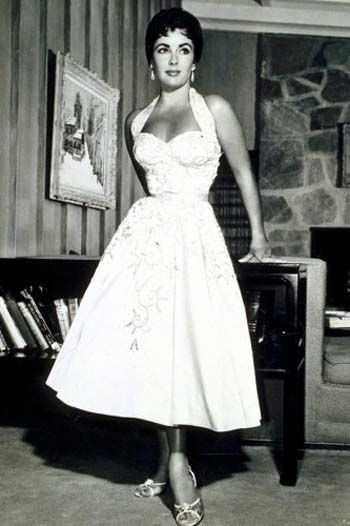50s Style Wedding Dresses for the Alternative Bride50s Style Wedding Dresses for the Alternative Bride   Elizabeth  . Tea Length Halter Wedding Dress. Home Design Ideas