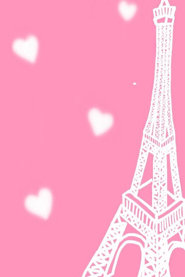 Eiffel Tower Pink Background Paris Wallpaper Pink