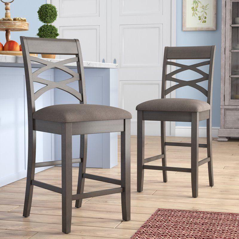 Jeanine wood double cross back 24 bar stool bar stools