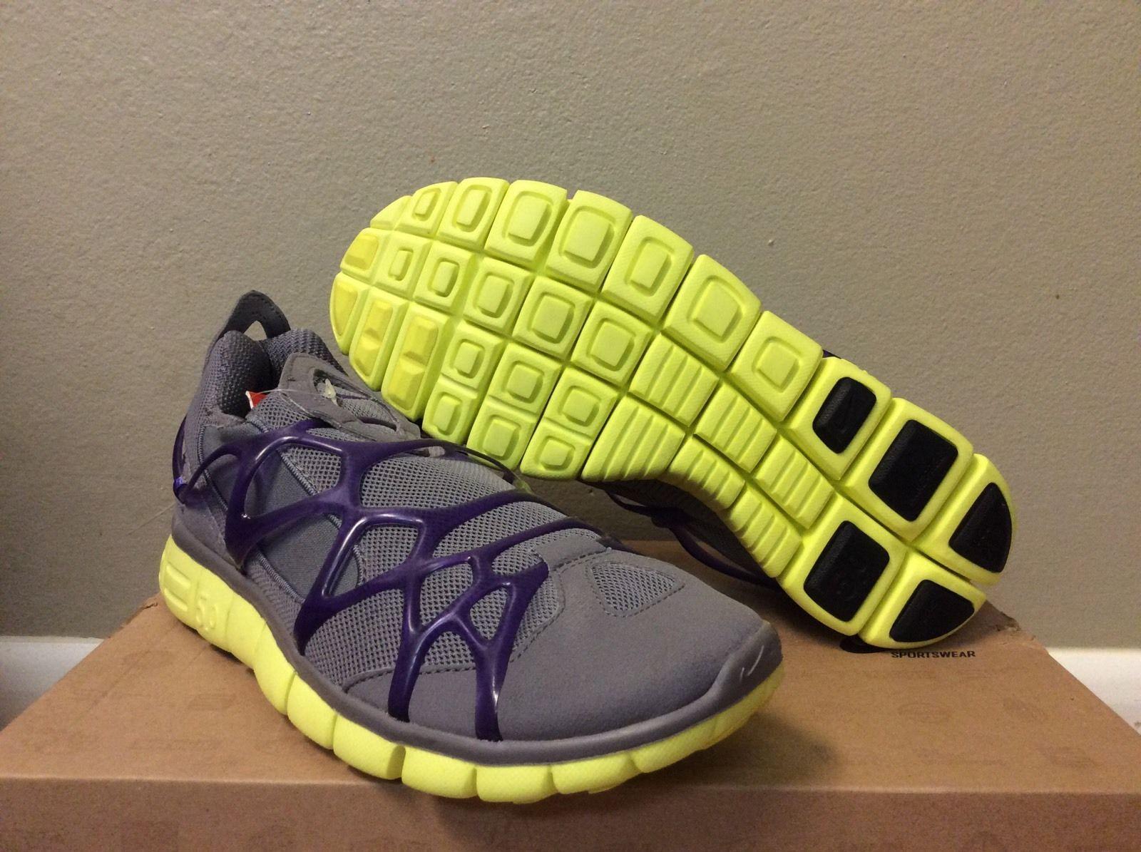 Nike Free 5 0 Kukini Presto Men Run Training Shoe Gray Purple Sz 8 5