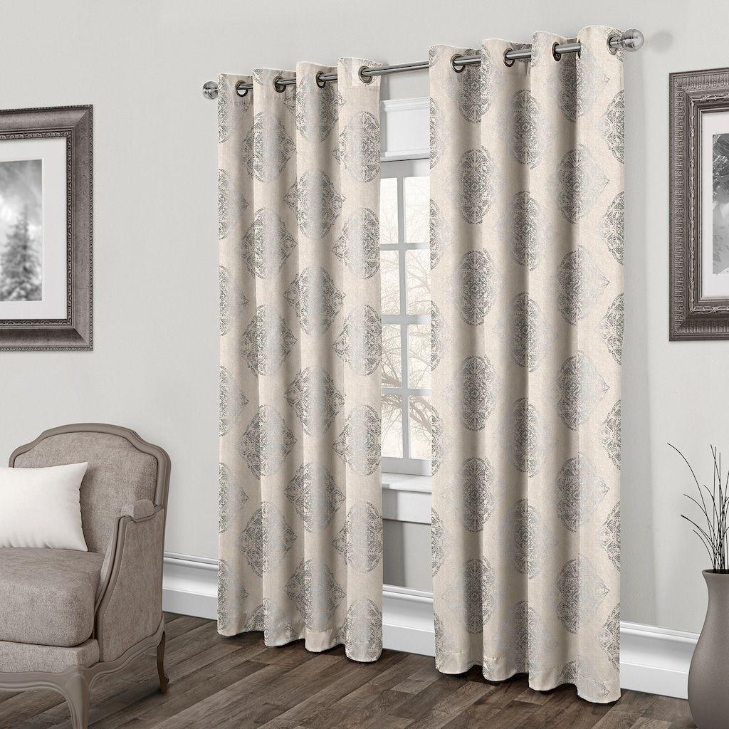 Exclusive home pack augustus metallic window curtains uu x