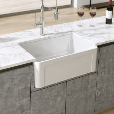 Latoscana Ltw2718w 27 Reversible Fireclay Farmhouse Sink With