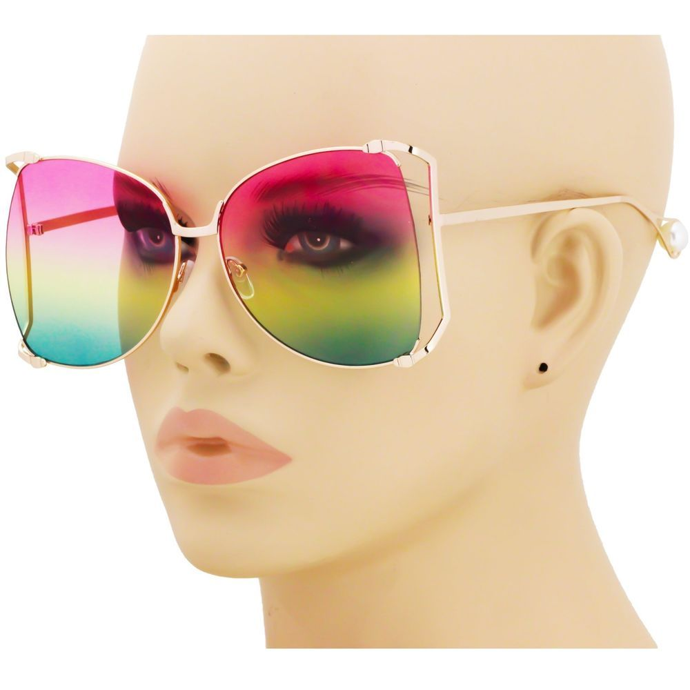 7f9baf107dcc Oversized Designer Sunglasses Fashion Women Pearl Retro Clear Sun Glasses  2018