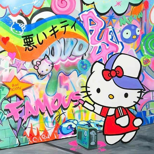 Bad Kitty (With images)   Hello kitty art, Art, Pop art
