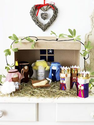 Stable Nativity Scene To Make From Toilet Roll Tubes