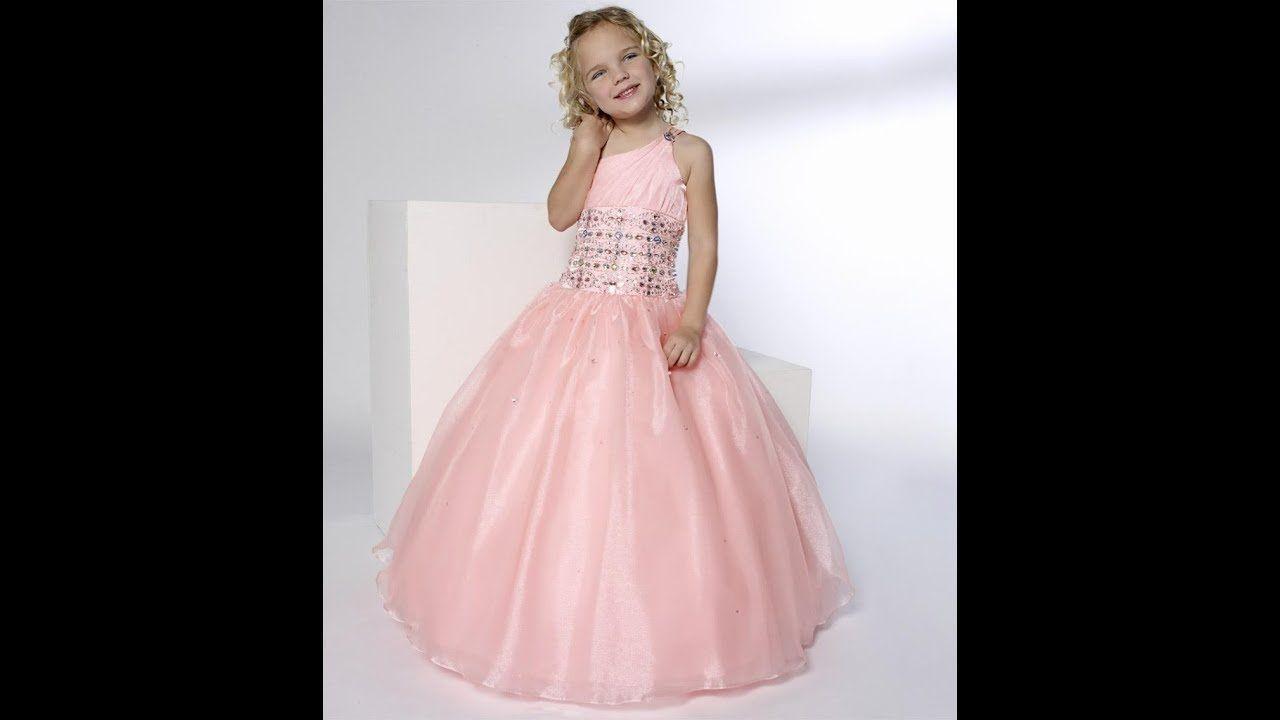 Vestidos de fiesta para niña en tonos rosa, Video 2 de 2 para ...