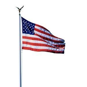 Seasonal Designs 20 Ft Aluminum Flagpole With 3 Ft X 5 Ft U S Flag Ap20 At The Home Depot Mobile Seasonal Designs Flag Display American Flag