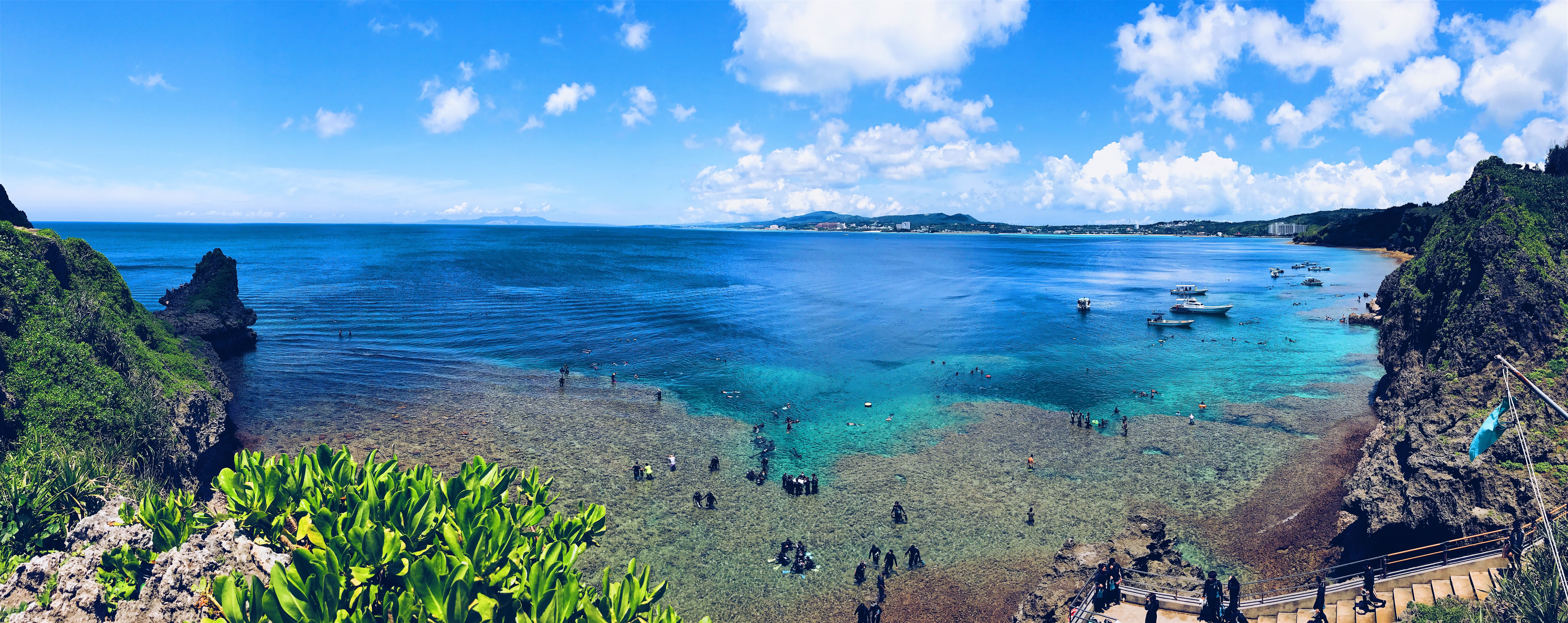 Maeda Point in Okinawa, Japan. Beautiful blue waters for ...