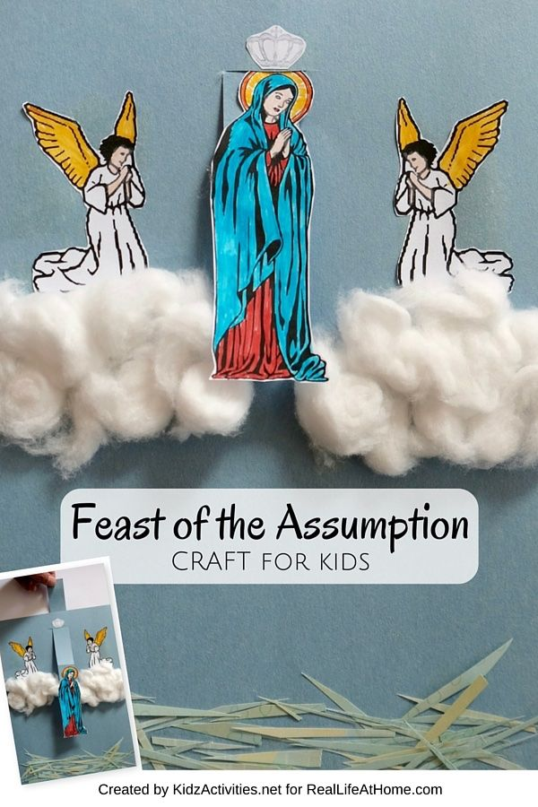 The Feast Of The Assumption Craft Catholic Kids Catholic Crafts