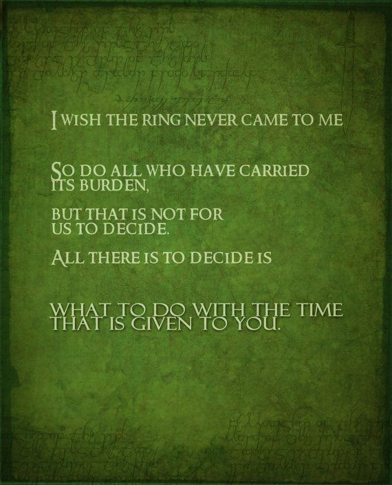 Lord Of The Rings Inspirtational Poster Set By