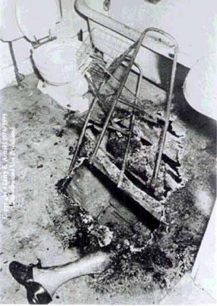Burned remains of Dr. John Irving Bentley, December 5 1966.