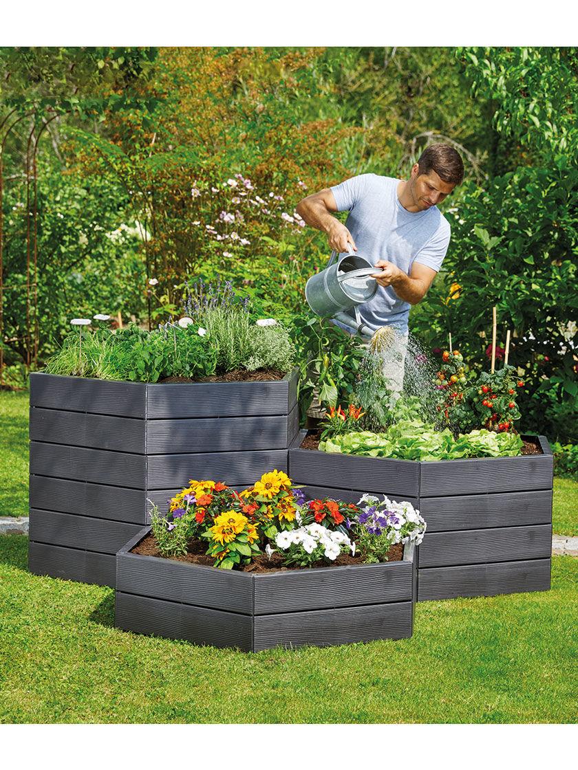 Exaco Hexagonal Raised Garden Bed Planter Gardener S Supply