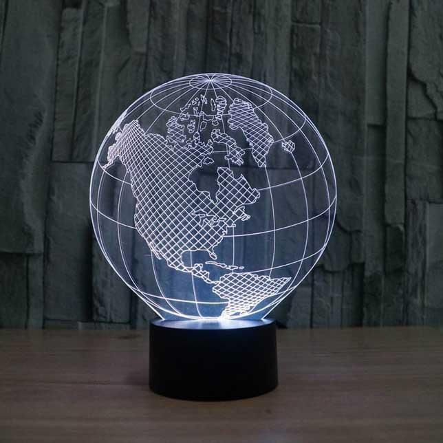 Globe 3d Illusion Lamp 3d Led Lamp 3d Illusion Lamp Globe Lamps