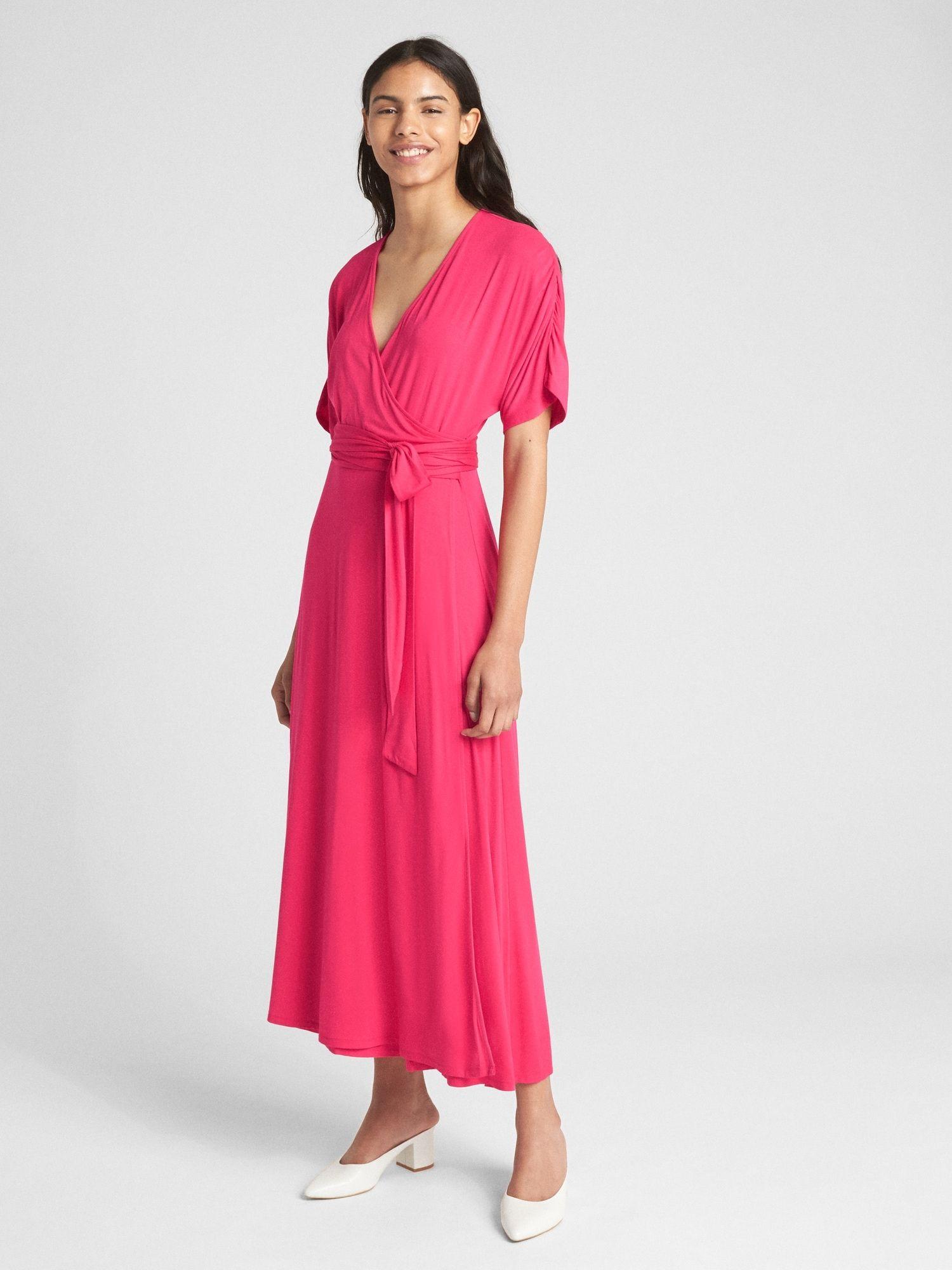 Short Sleeve Wrap Maxi Dress Gap Women Clothes Sale Maxi Wrap Dress Maxi Dress [ 2000 x 1500 Pixel ]