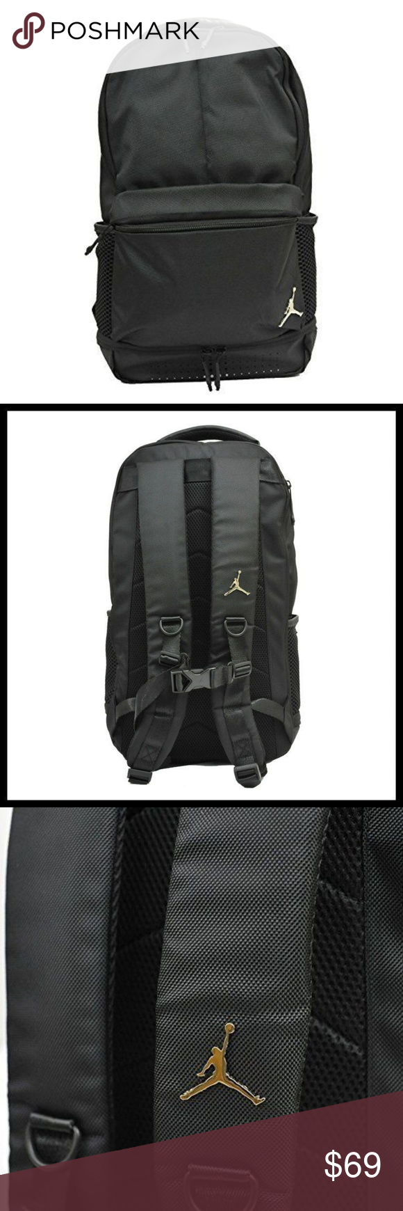 b78d42886db8e2 Nike Air Jordan Jumpman Black Silver Backpack NWT Buy from a Posh  Ambassador with over 1
