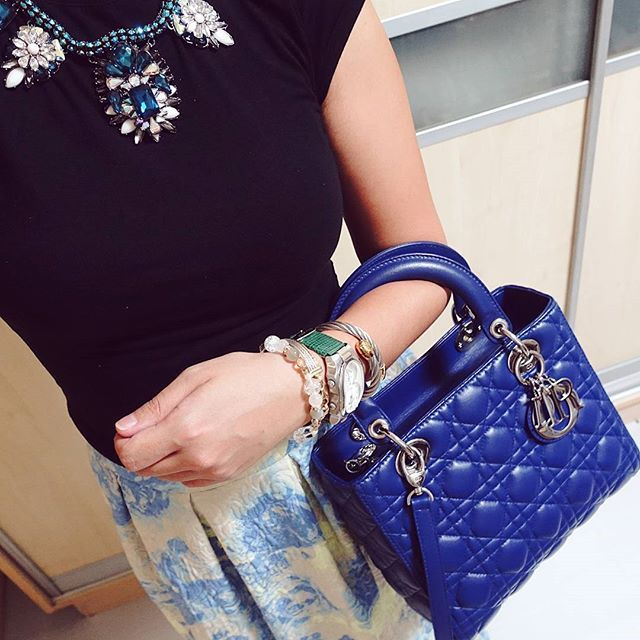 124e181ee1 Follow me on instagram: @quennandher // Lady DIOR blue bag // ASOS ...