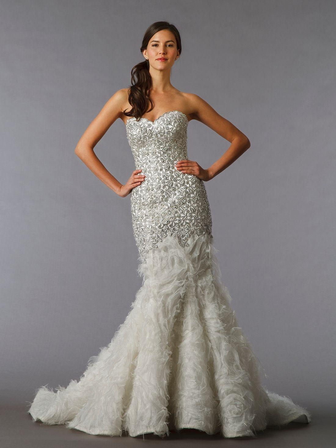 Superb KleinfeldBridal Pnina Tornai Bridal Gown Mermaid Dropped Waist