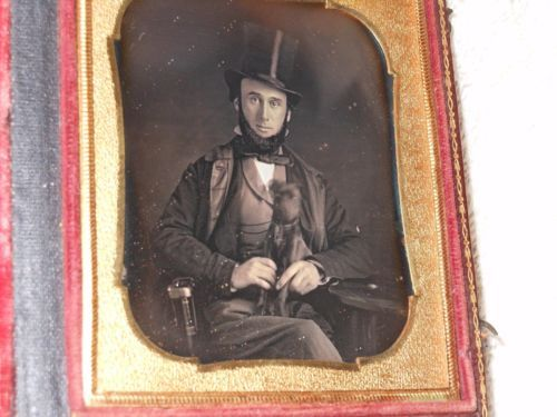 Man and His Dog Daguerreotype 1 6 Plate Full Case | eBay